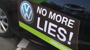 VW protest. No more lies