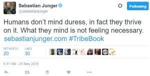 Sebastian Junger. Twitter