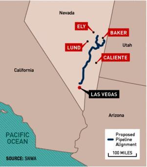 Las Vegas water pipeline. SNWA credit.