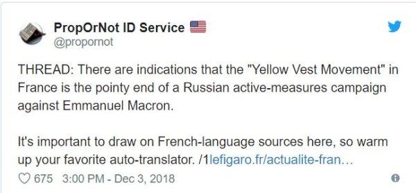 Yellow Vest movement twet