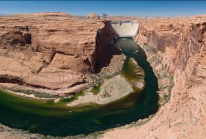 Glen Canyon Dam. Part of Colorado River drought plan