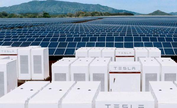 Tesla grid batteries. Solar PV