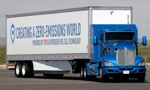 Toyota fuel cell big rig truck