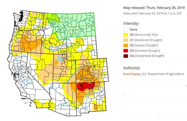 Southwest drought monitor