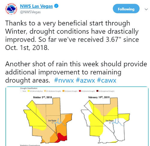 Las Vegas drought comparison