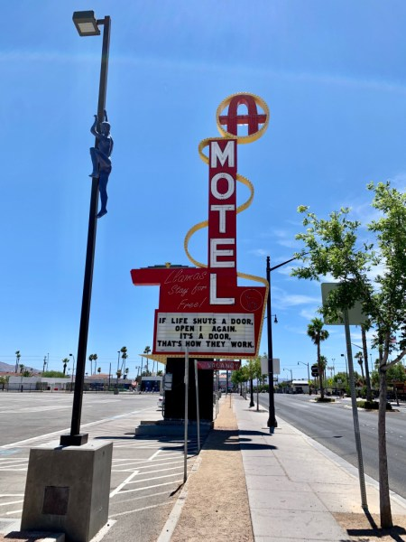 Old motel marquee. Fremont Street