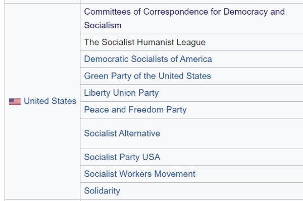 U.S. socialist parties