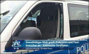Schorndorfer Straßenfest: Gewalttätiger Mob greift Polizisten und Festbesucher an