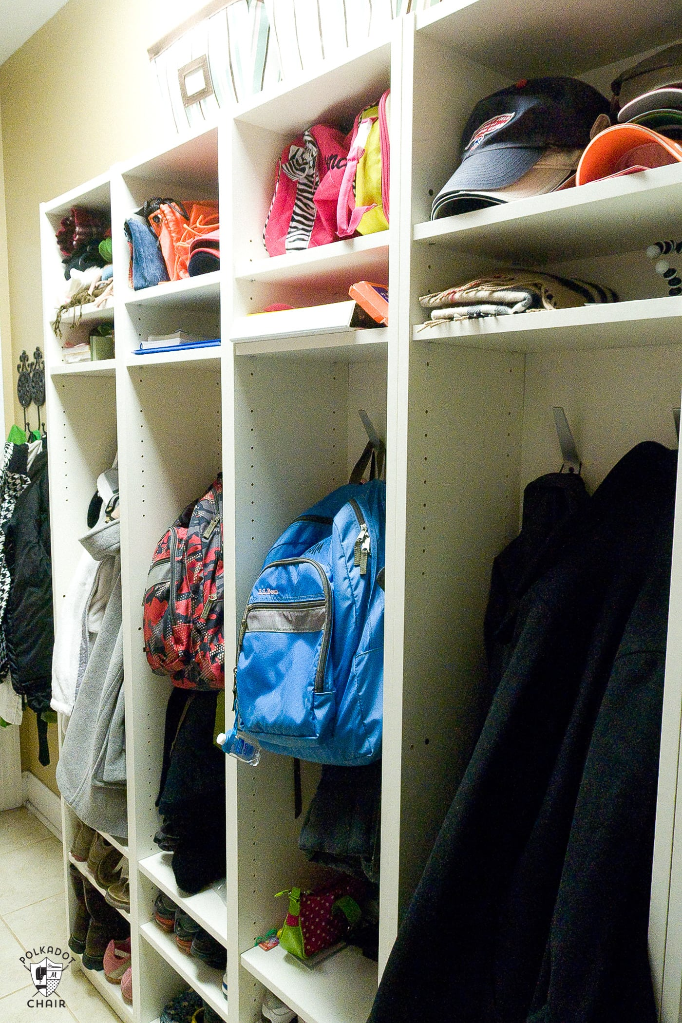 how to build your own mudroom lockers using IKEA bookcases