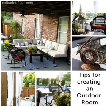 Tips for creating an outdoor room from The Polka Dot Chair Blog