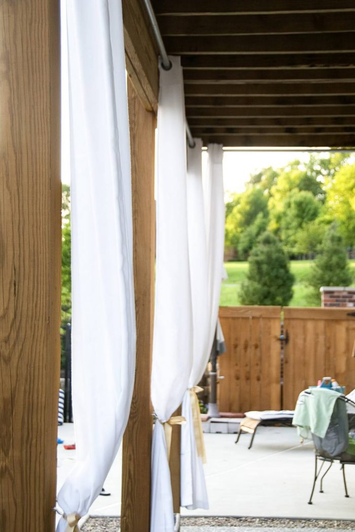 diy outdoor curtain rods construction