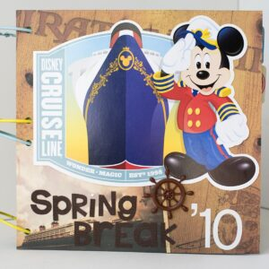 DIY Disney Cruise Scrapbook Album