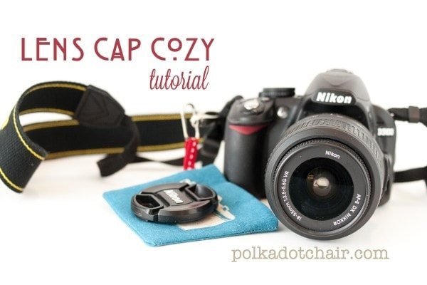 Lens Cap Cozy Sewing Tutorial, attaches to your camera, never lose your lens cap again!