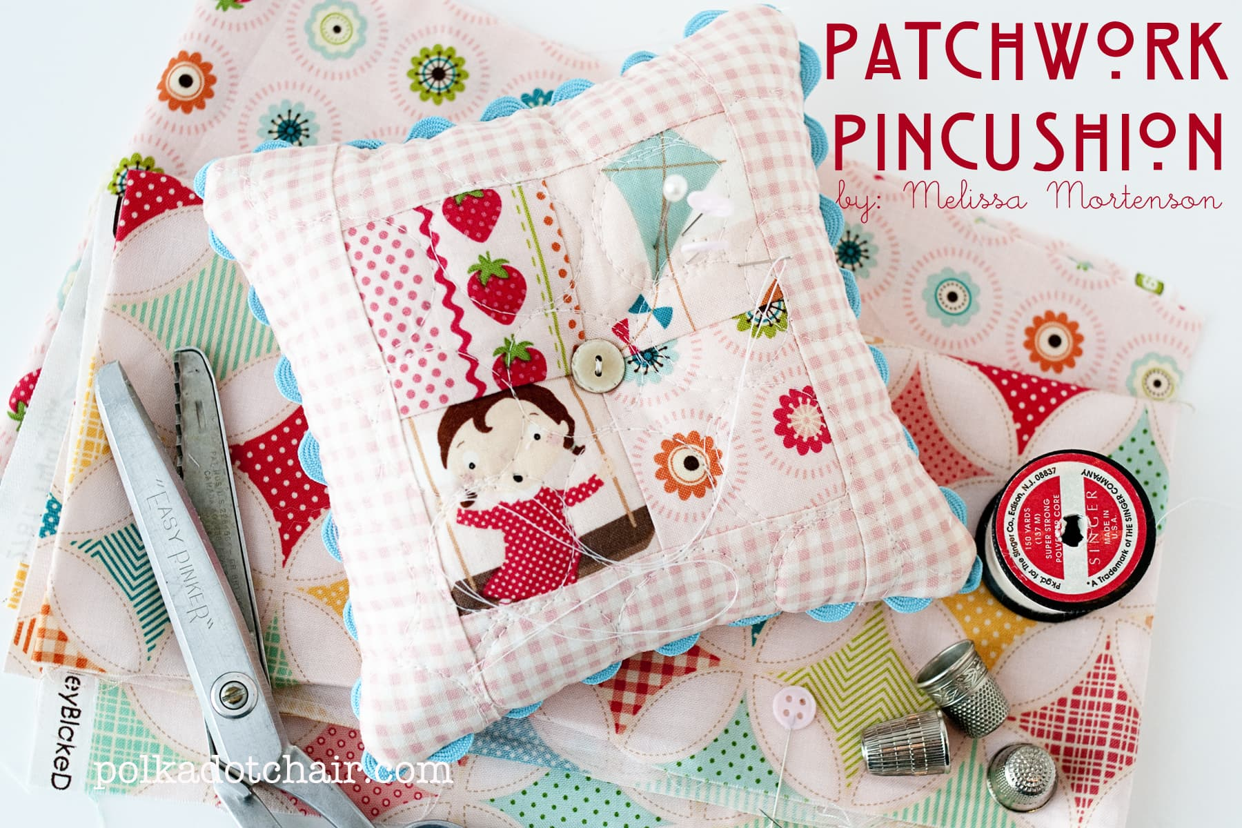 Patchwork Pin Cushion Sewing Pattern