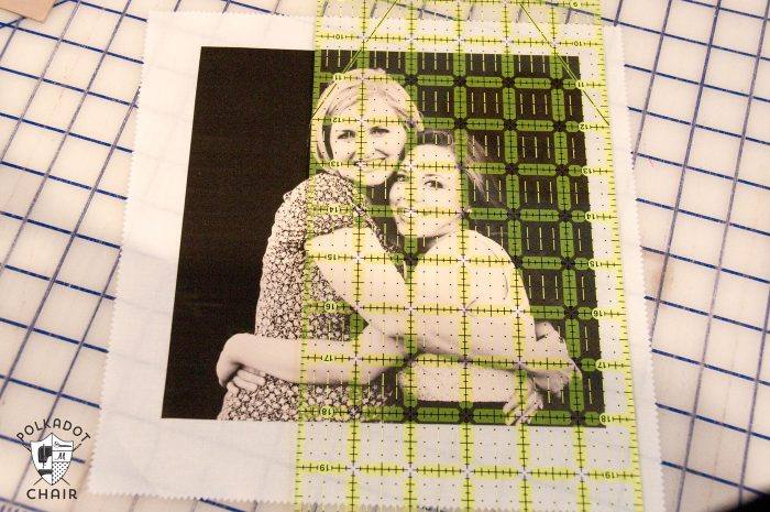 How to make a simple photo memory quilt