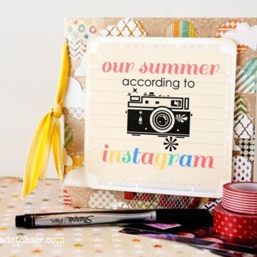 Instagram Mini Scrapbook Tutorial and free printable for the cover!