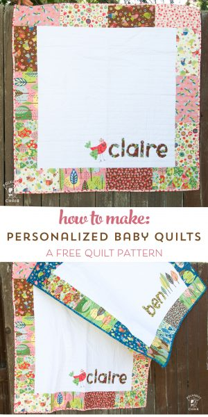 Craft Personalized Baby Girl Quilt Pattern Sewing