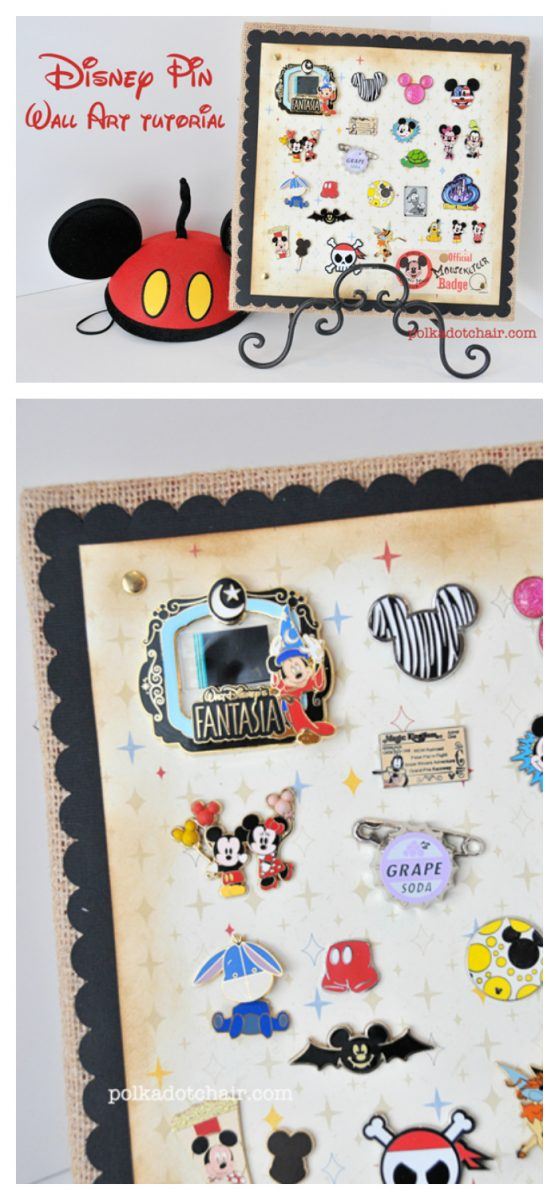 A fun way to display your Disney Trading Pins when you get home from your vacation!