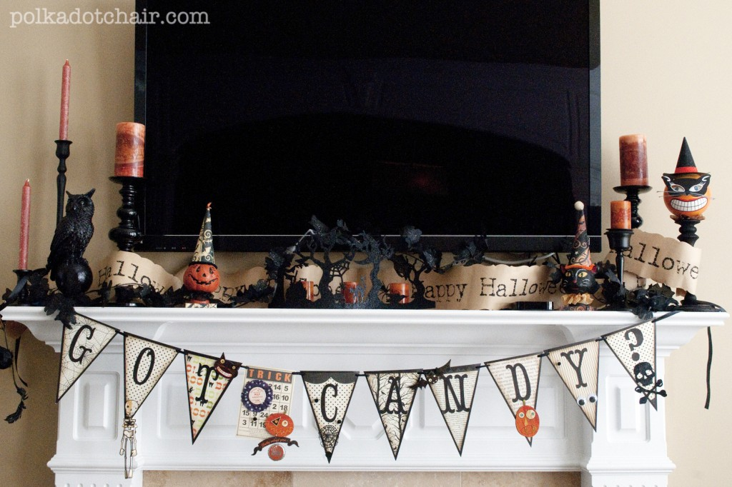 Halloween Mantle Decorating Ideas