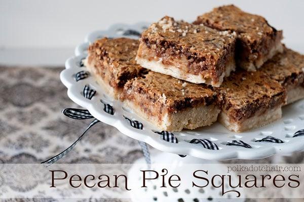 Pecan Pie Square Recipe