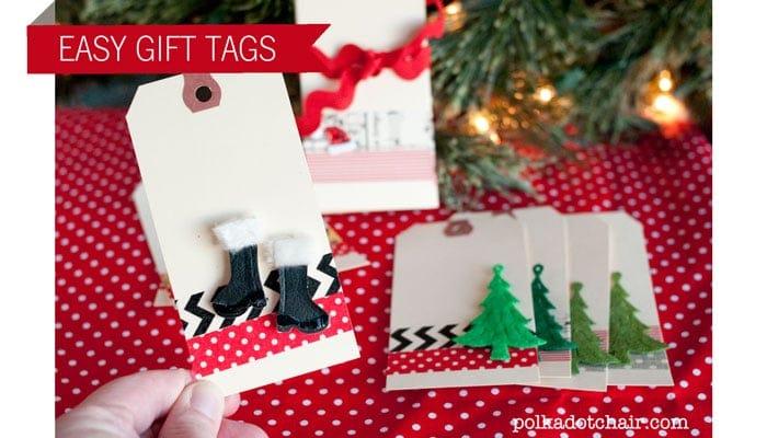 Easy Christmas Gift Tags