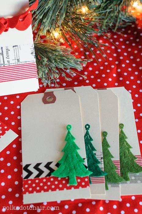 Washi Tape Christmas Gift Tags