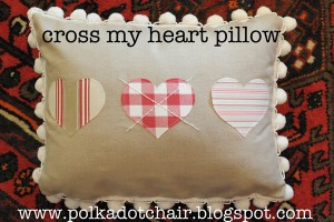 Cross My Heart Valentines Day Pillow Sewing Tutorial