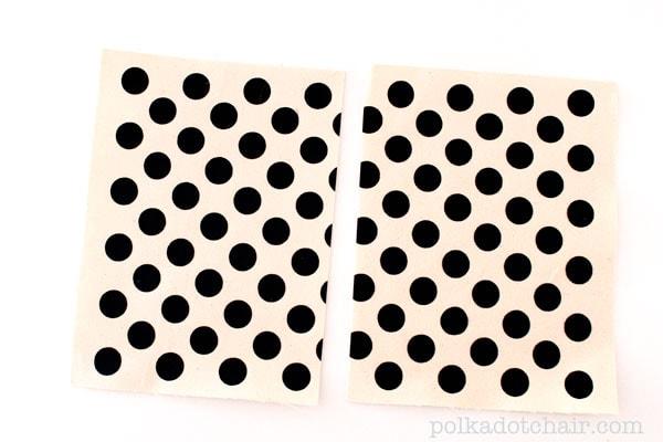 How to make polka dot fabric