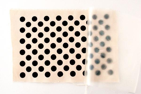 DIY polka dot fabric