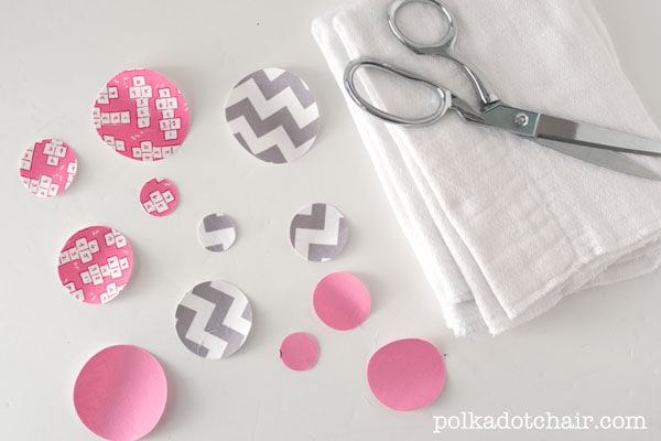 Polka Dot Burp Cloths