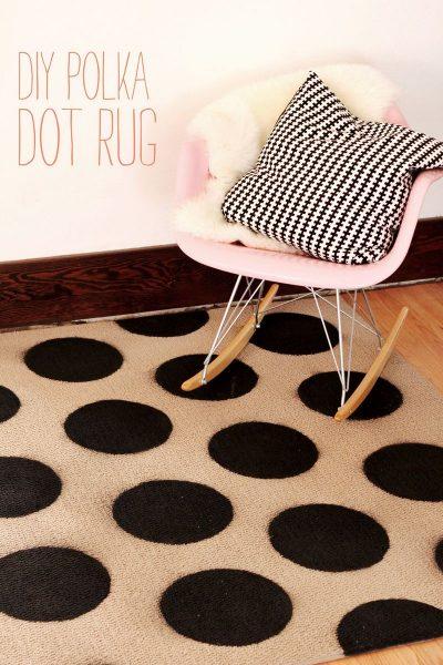 DIY Polka Dot Rug