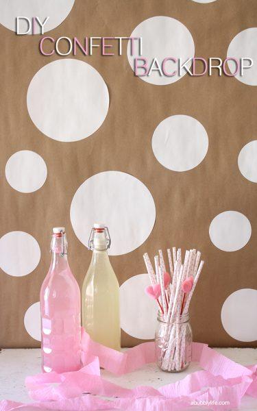 DIY Polka Dot Party Background