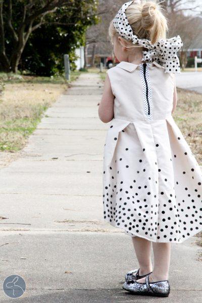 Upcycled Polka Dot Dress