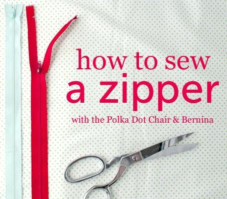 How to Sew a Zipper on polkadotchair.com