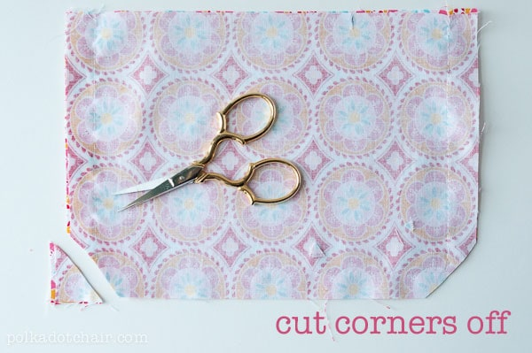 how to clip a corner
