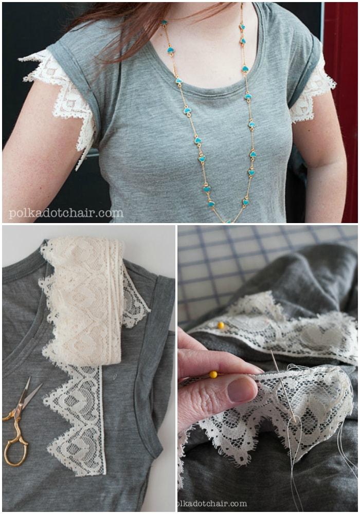 Lace t-shirt idea
