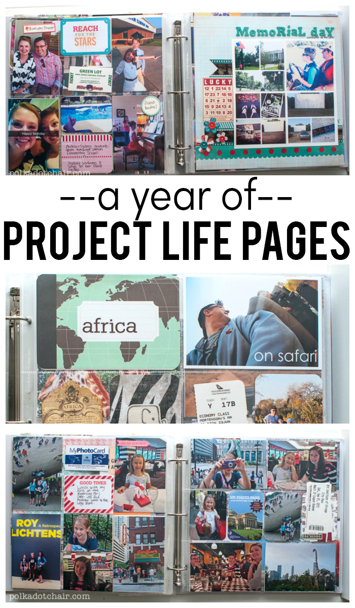 A Year of Project Life Page Ideas