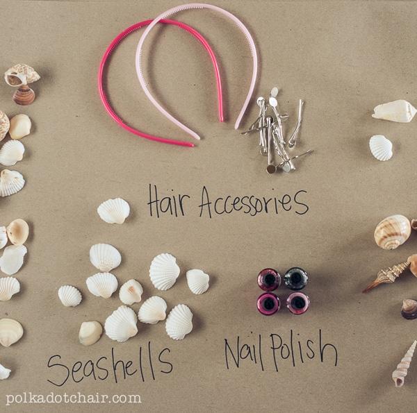 DIY Painted Seashell Accessories--- uses nail polish.. genius!