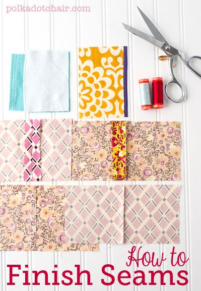 Learn how to finish seams when you're sewing... even if you don't have a serger!