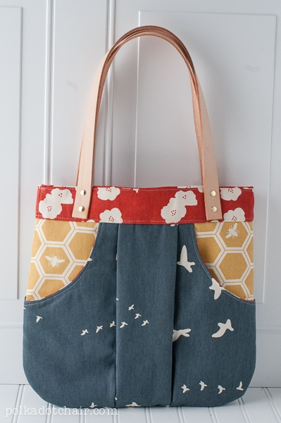 March Bag made with Birch Organics Fabric