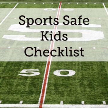Sports Safe Kids Checklist