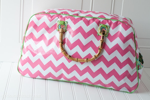 Pink Retro Travel Bag