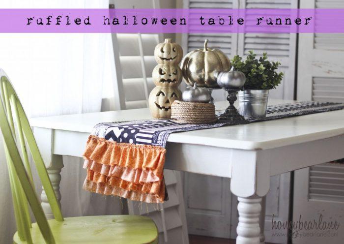 Ruffled Halloween Table Runner Tutorial