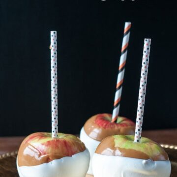 White Chocolate Caramel Apples
