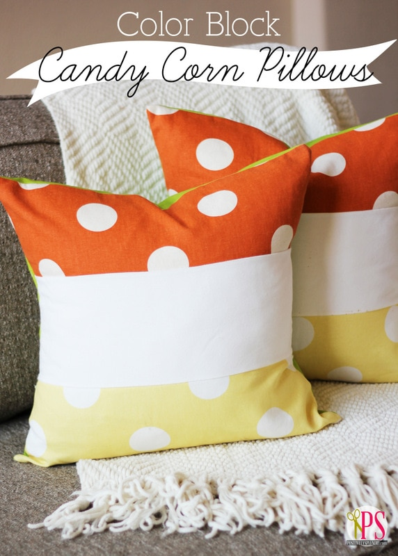 Candy Corn Pillows