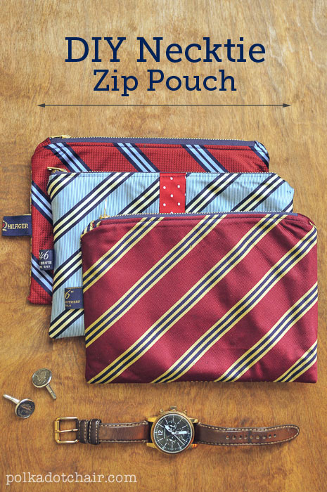 DIY Necktie Zip Pouch Tutorial