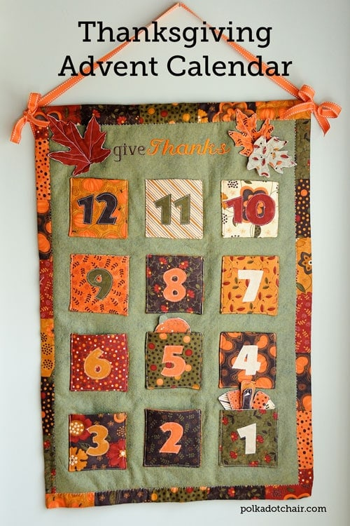 Thanksgiving Countdown Calendar- Fill with gratitude exercises and suggestions in the days leading up to Thanksgiving