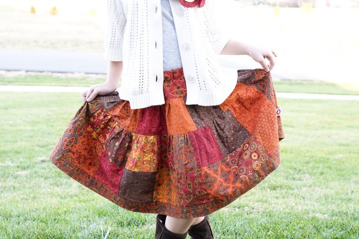 Patchwork Skirt Sewing tutorial