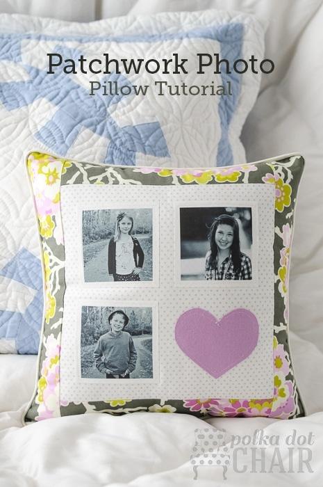 DIY Patchwork Photo Pillow