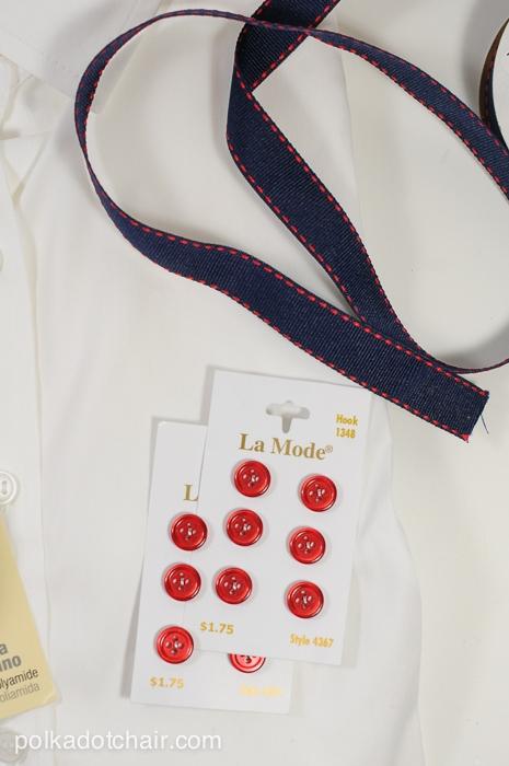 Button Up Shirt Refashion on polkadotchair.com